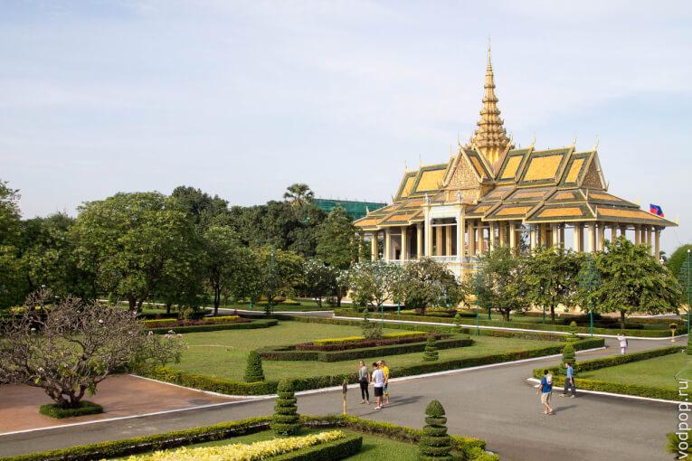 Королевский дворец в Пномпене. Наша прогулка по столице Камбоджи